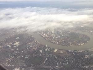 London through the clouds